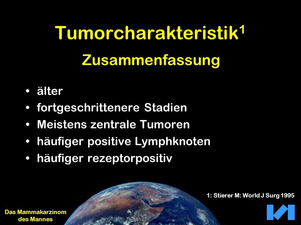 Tumorcharakteristik 1 älter fortgeschrittenere Stadien Meistens zentrale Tumoren häufiger positive Lymphknoten häufiger rezeptorpositiv Das Mammakarzi