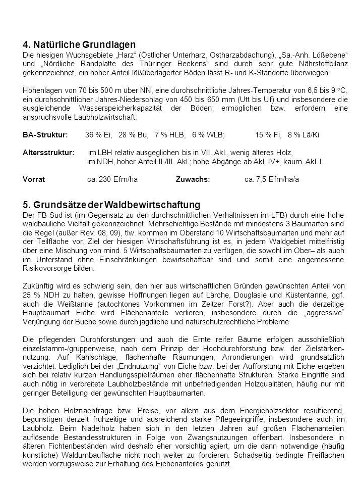4. Natürliche Grundlagen Die hiesigen Wuchsgebiete Harz (Östlicher Unterharz, Ostharzabdachung), Sa.-Anh. Lößebene und Nördliche Randplatte des Thürin