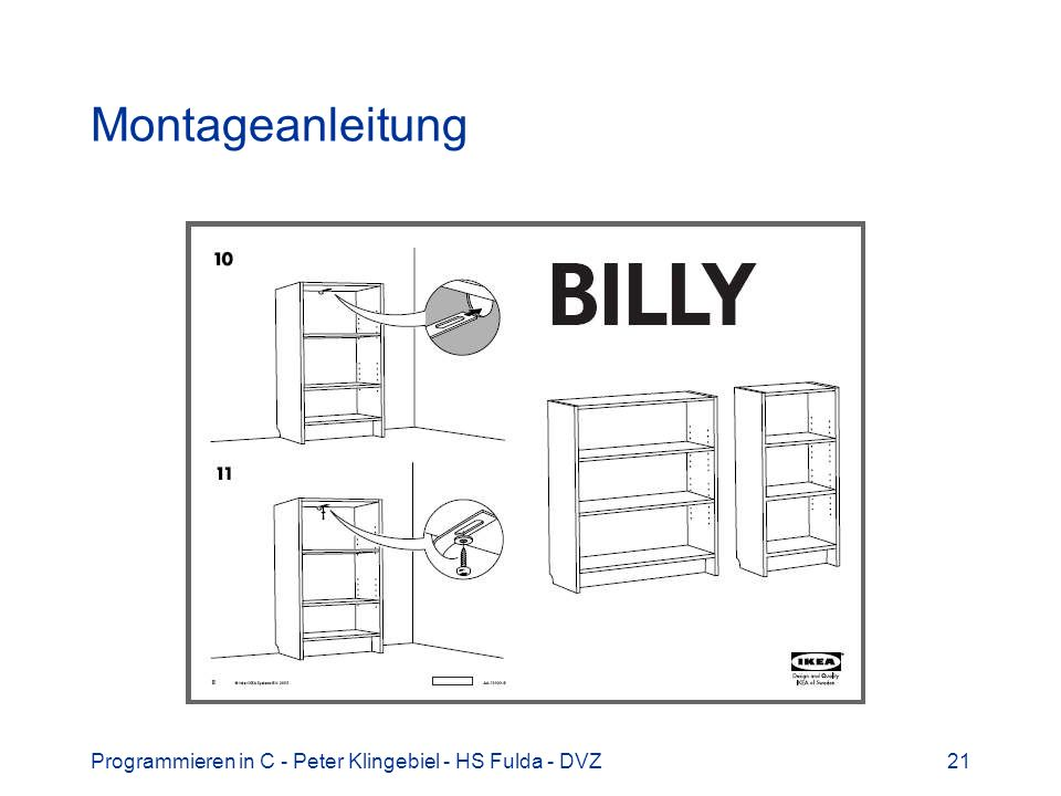 Programmieren in C - Peter Klingebiel - HS Fulda - DVZ21 Montageanleitung