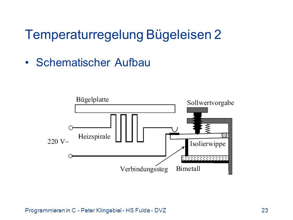 Programmieren in C - Peter Klingebiel - HS Fulda - DVZ23 Temperaturregelung Bügeleisen 2 Schematischer Aufbau