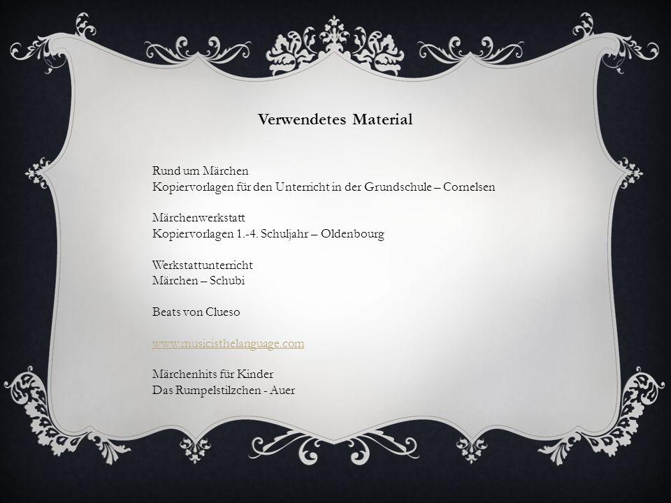 Verwendetes Material Rund um Märchen Kopiervorlagen für den Unterricht in der Grundschule – Cornelsen Märchenwerkstatt Kopiervorlagen 1.-4.