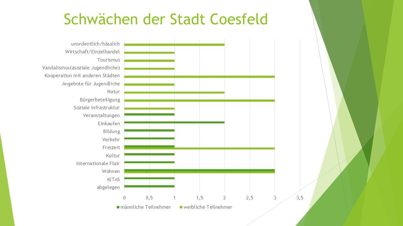 Schwächen der Stadt Coesfeld