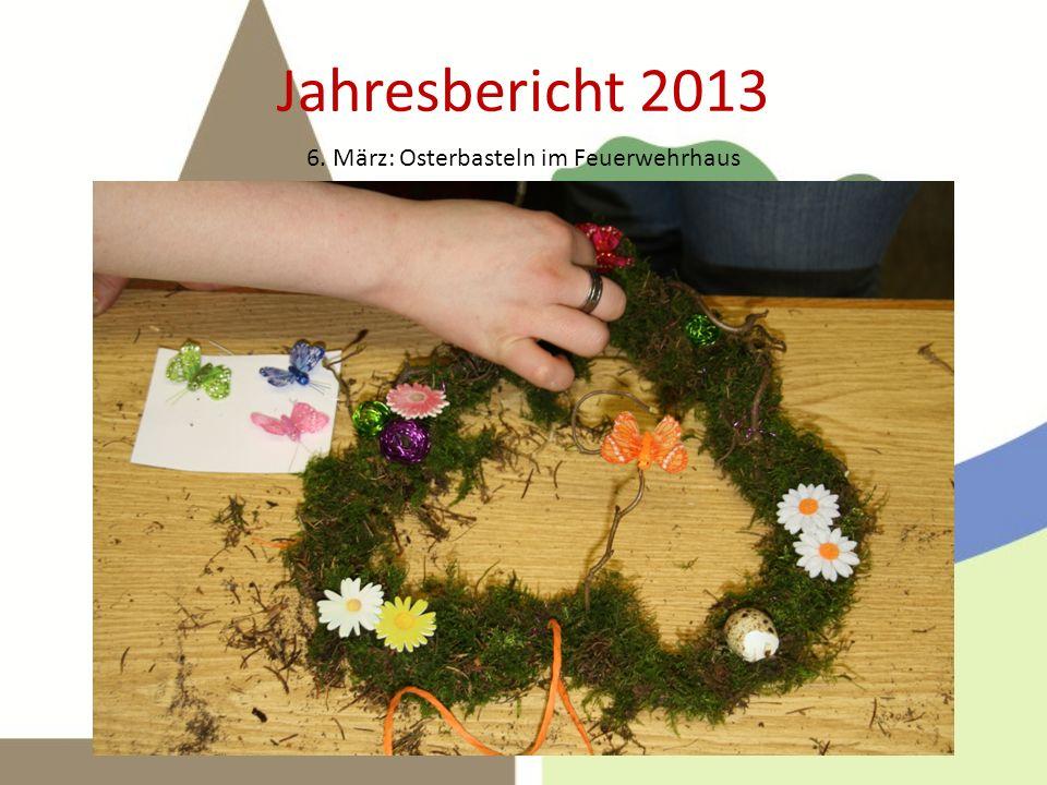 Jahresbericht 2013 Die Harke berichtete am 22. April: