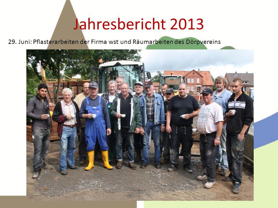 Jahresbericht 2013 8. Juli: Richtfest !
