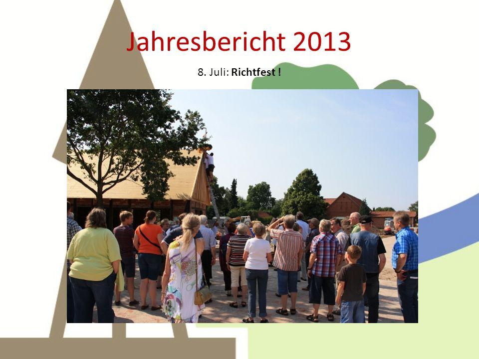 Jahresbericht 2013 10. August: Pflasterarbeiten