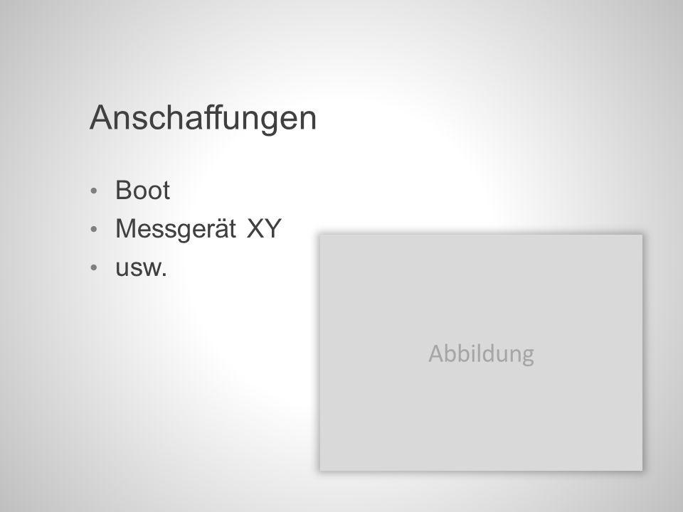 Anschaffungen Boot Messgerät XY usw. Abbildung