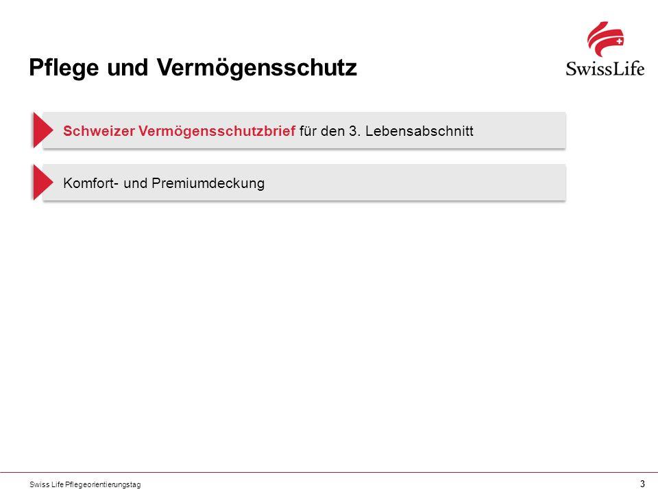 3 Pflege und Vermögensschutz Schweizer Vermögensschutzbrief für den 3. Lebensabschnitt Komfort- und Premiumdeckung