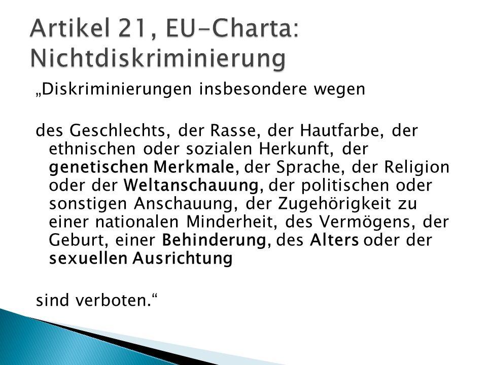 Magna Carta 1215 Bill of Rights (UK) 1689 US- Verfassung 1776 1953 Europäische Menschenrechtskonvention 2000/09 Charta der Grundrechte der Europäischen Union 1997 Amsterdamer Vertrag