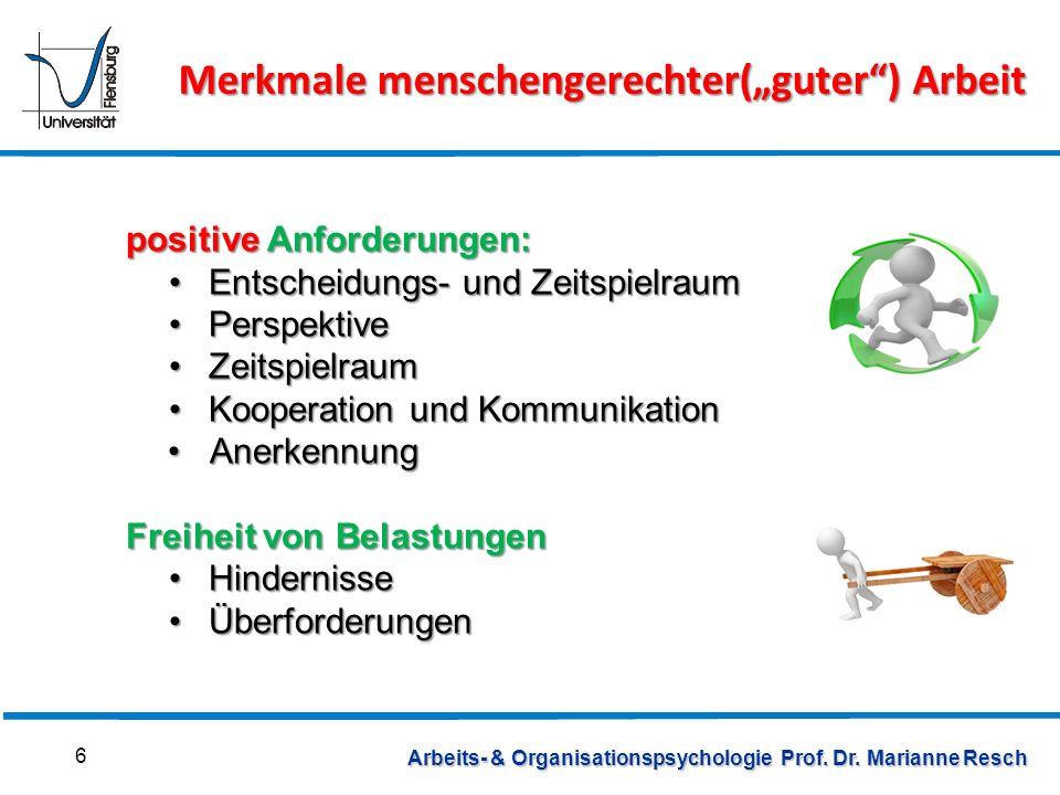Internationales Institut für Management Fachgebiet Arbeits- und Organisationspsychologie (c) Prof.