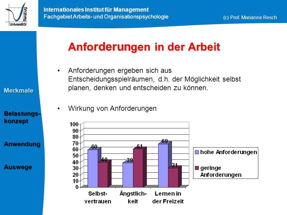 Arbeits- & Organisationspsychologie Prof.Dr.