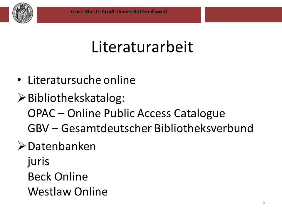 Ernst-Moritz-Arndt-Universität Greifswald Vielen Dank! 16