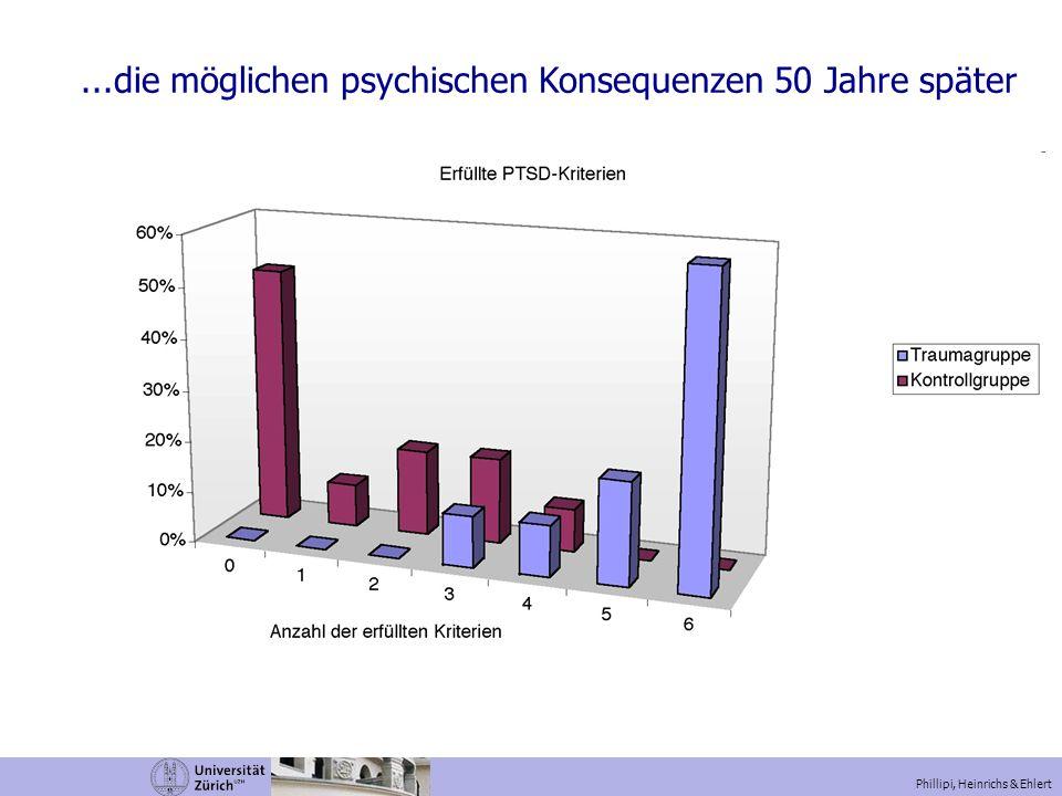 ...die möglichen psychischen Konsequenzen 50 Jahre später Phillipi, Heinrichs & Ehlert