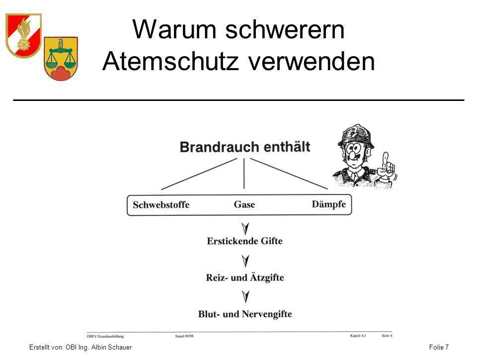 Erstellt von: OBI Ing. Albin SchauerFolie 8 Aufbau Atemschutzgerät