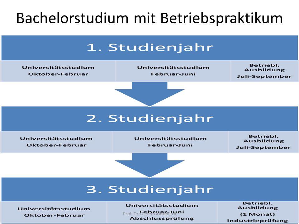 Bachelorstudium mit Betriebspraktikum Prof. Dr. Dieter Grasedieck