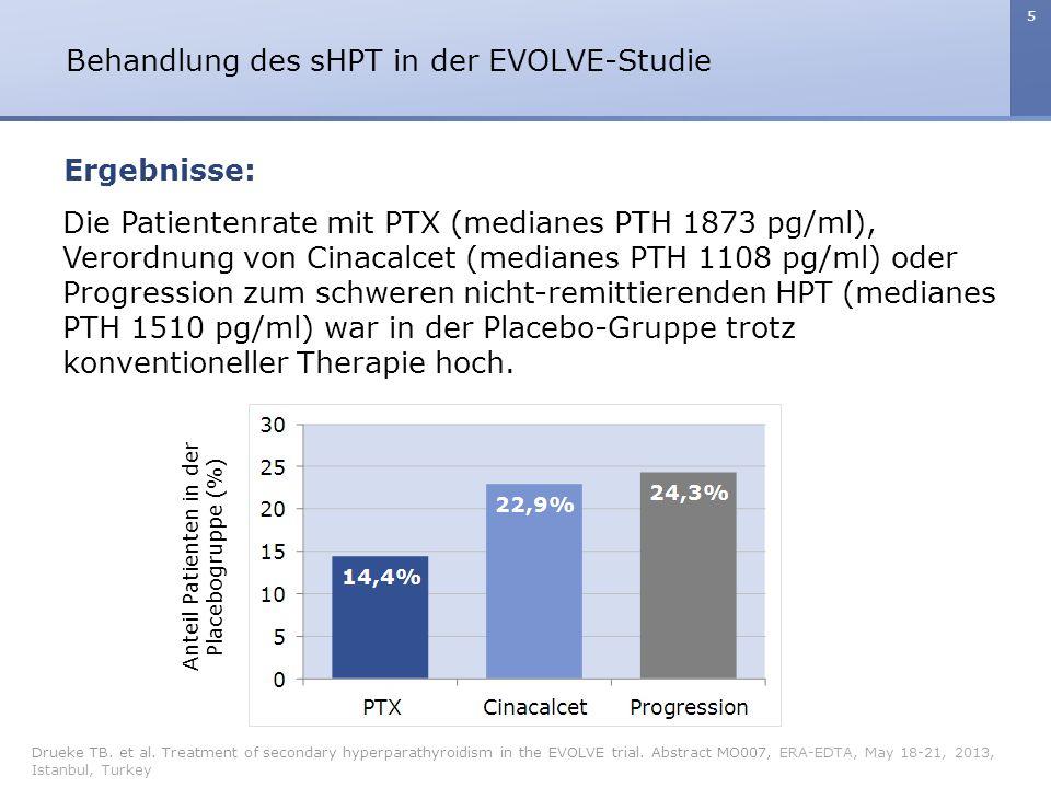 6 Behandlung des sHPT in der EVOLVE-Studie Drueke TB.