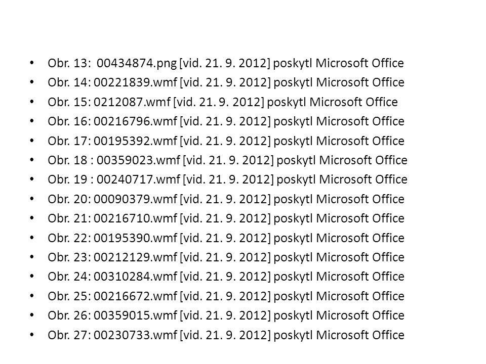 Obr. 13: 00434874.png [vid. 21. 9. 2012] poskytl Microsoft Office Obr. 14: 00221839.wmf [vid. 21. 9. 2012] poskytl Microsoft Office Obr. 15: 0212087.w
