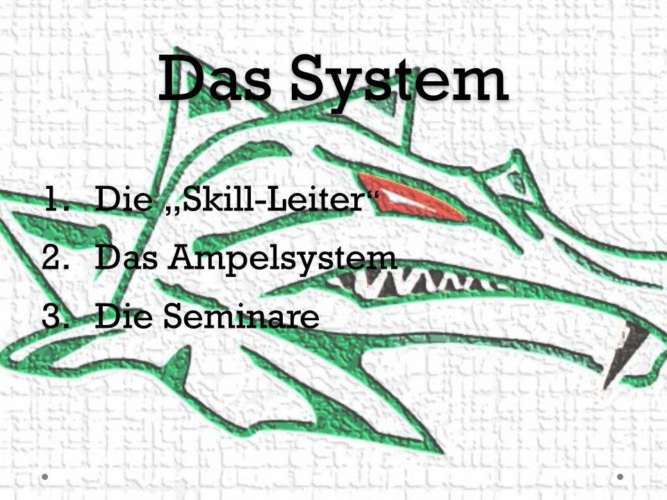 Das System 1.Die Skill-Leiter 2.Das Ampelsystem 3.Die Seminare
