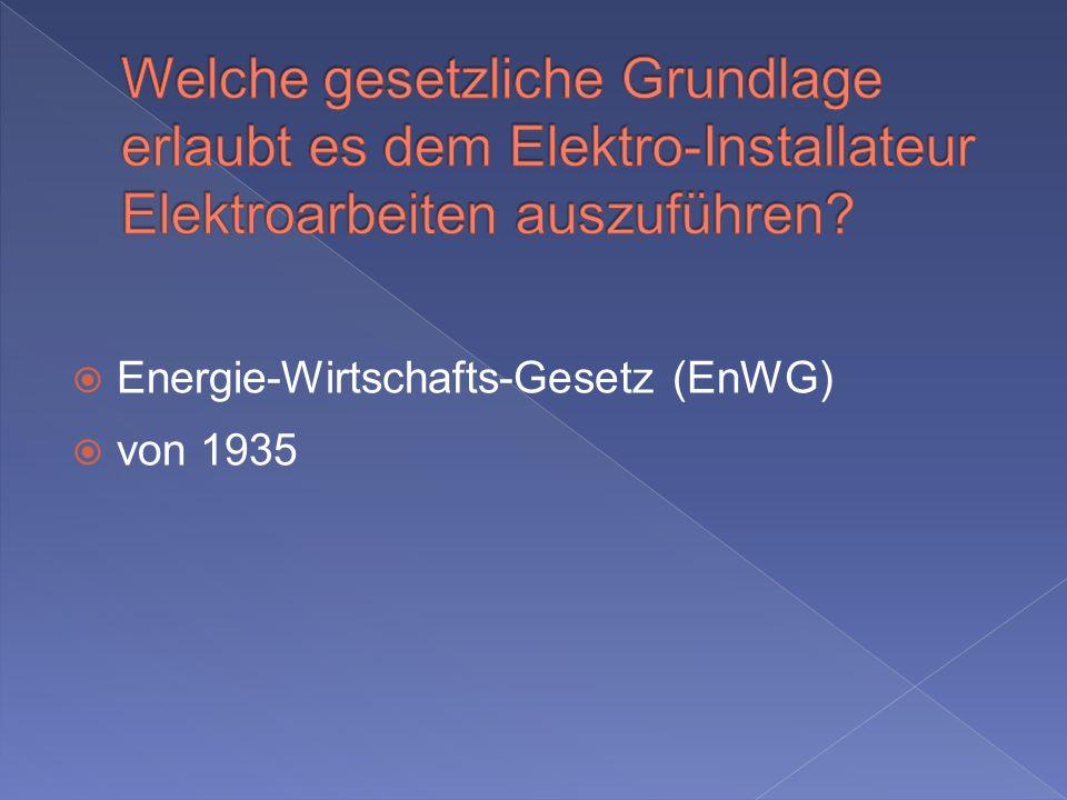 Energie-Wirtschafts-Gesetz (EnWG) von 1935