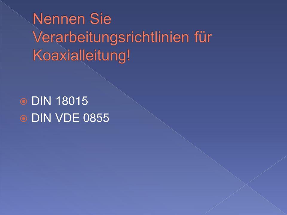 DIN 18015 DIN VDE 0855