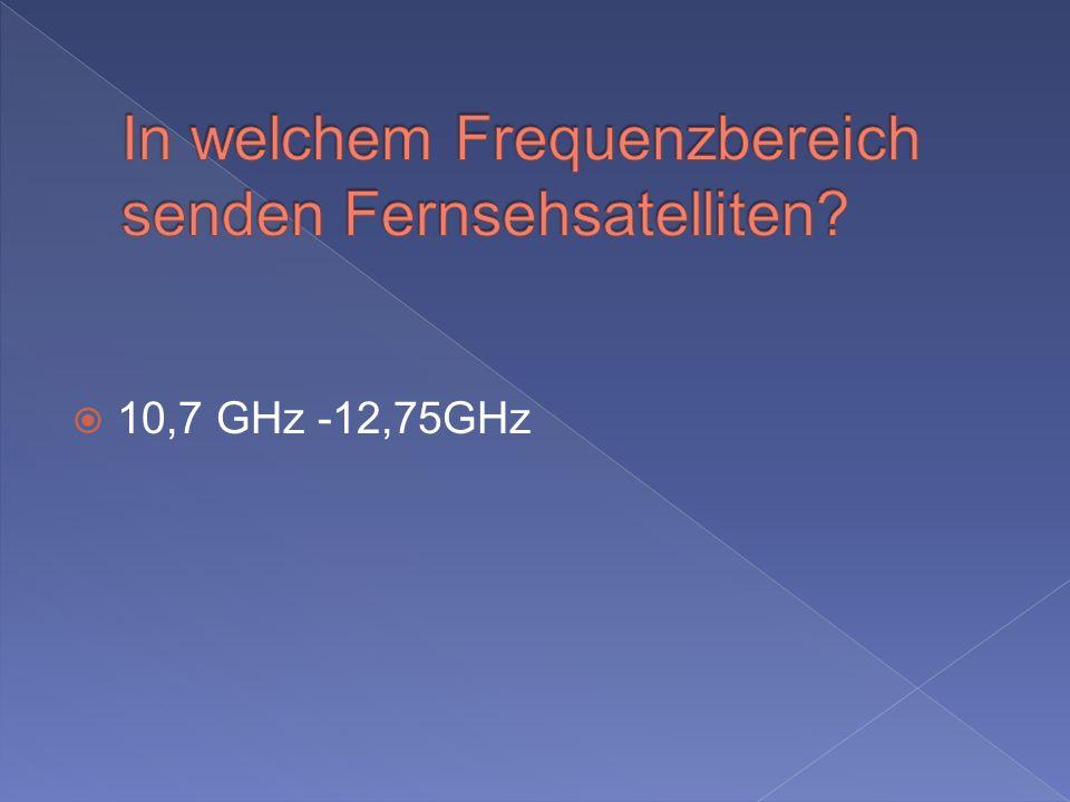 10,7 GHz -12,75GHz