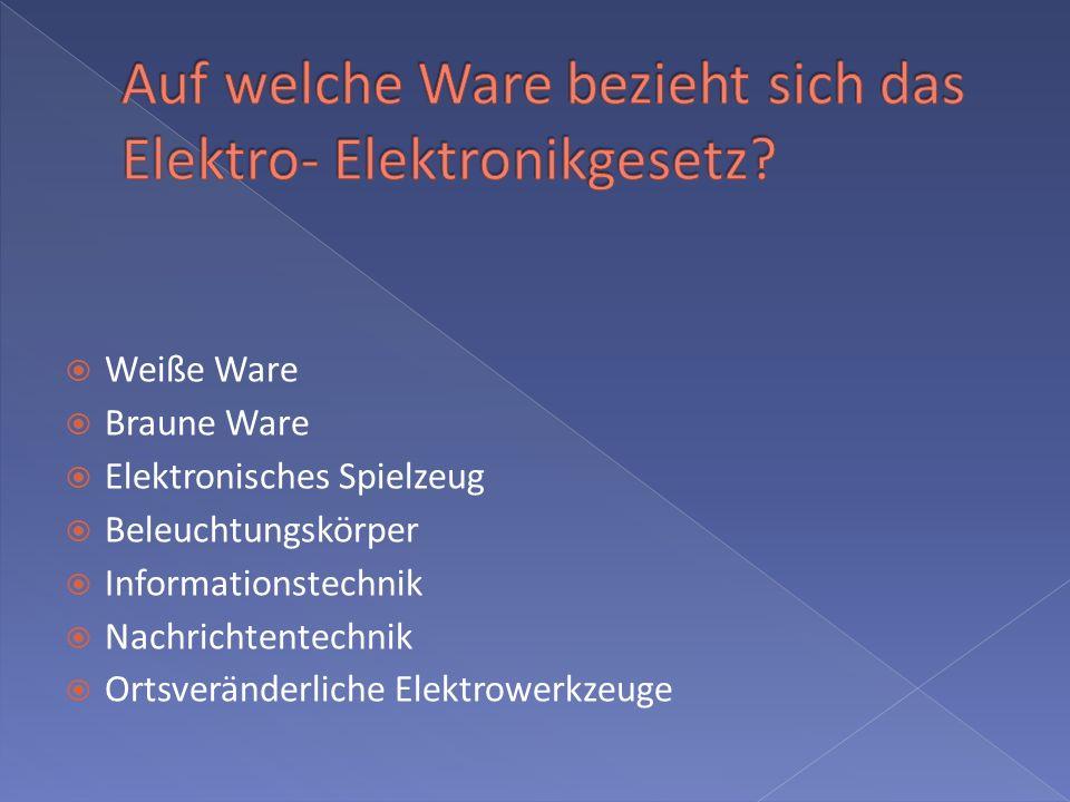 Weiße Ware Braune Ware Elektronisches Spielzeug Beleuchtungskörper Informationstechnik Nachrichtentechnik Ortsveränderliche Elektrowerkzeuge