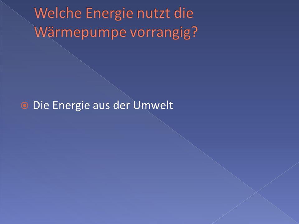 Die Energie aus der Umwelt