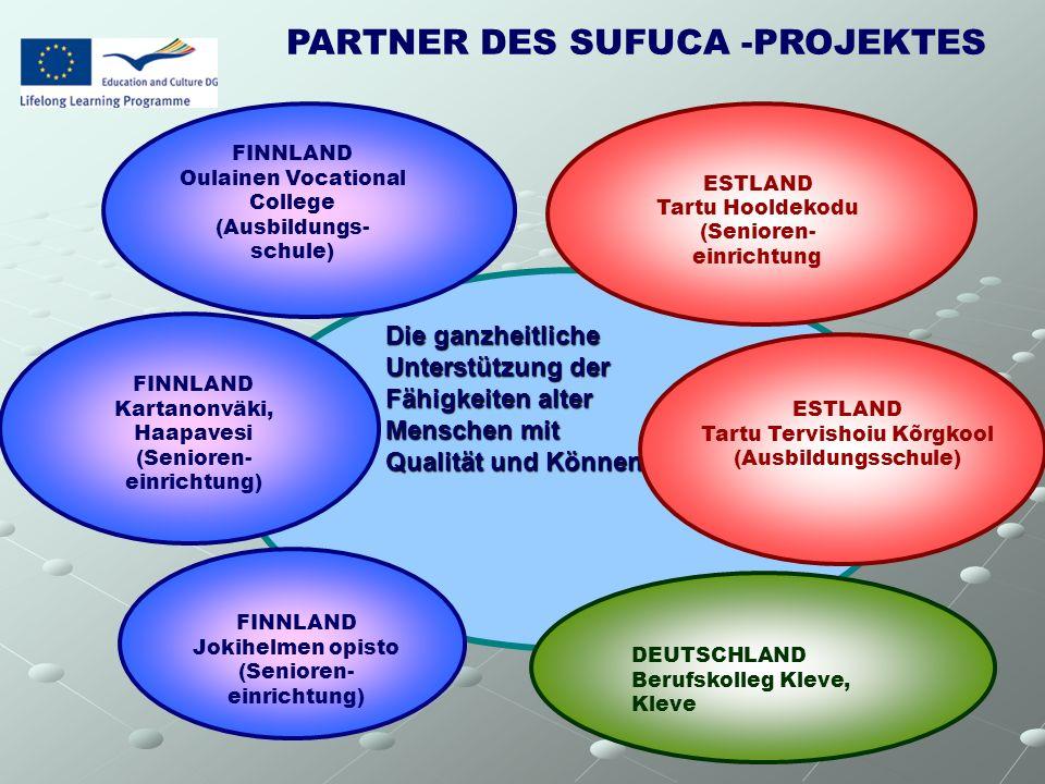 Die ganzheitliche Unterstützung der Fähigkeiten alter Menschen mit Qualität und Können ESTLAND Tartu Hooldekodu (Senioren- einrichtung ESTLAND Tartu T
