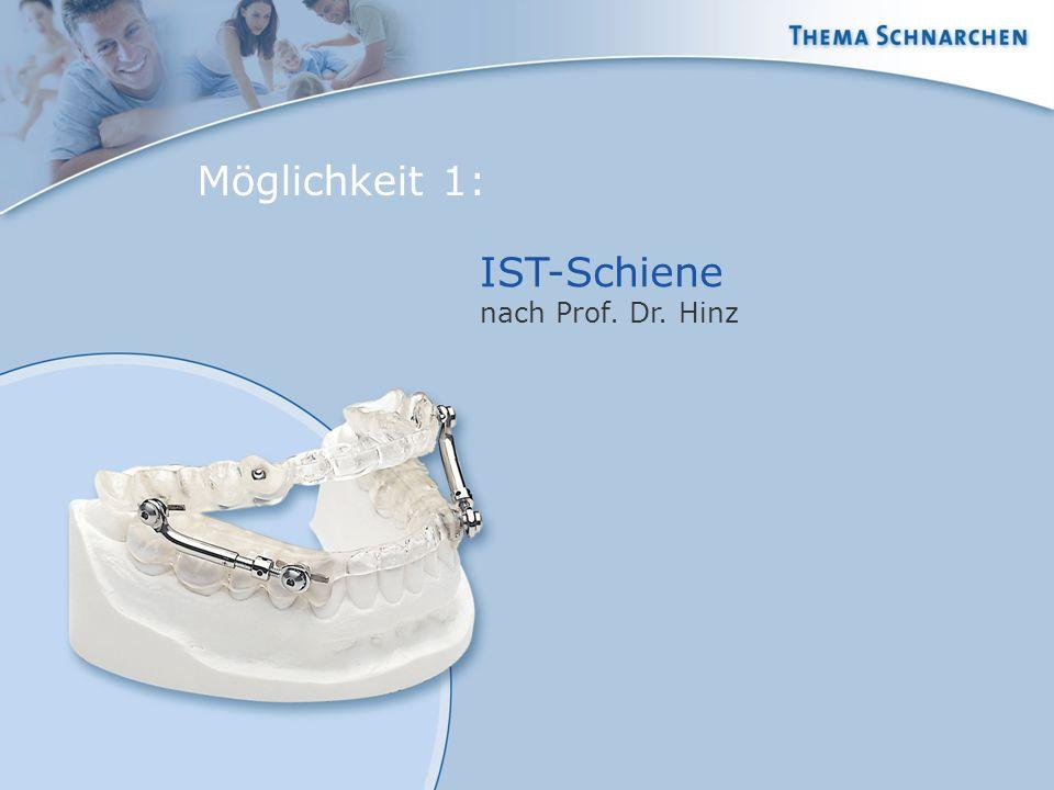IST-Schiene nach Prof. Dr. Hinz Möglichkeit 1: