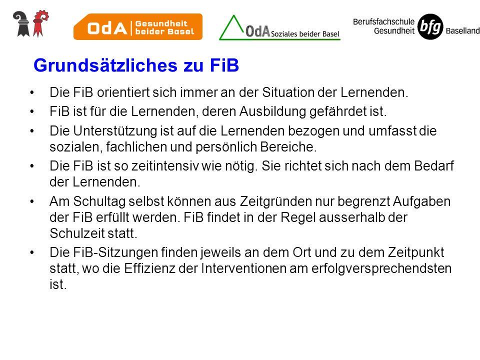 Grundsätzliches zu FiB Die FiB orientiert sich immer an der Situation der Lernenden.