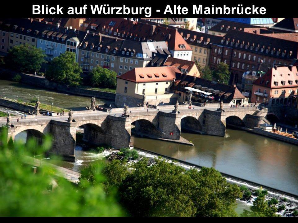 Blick auf Würzburg - Alte Mainbrücke