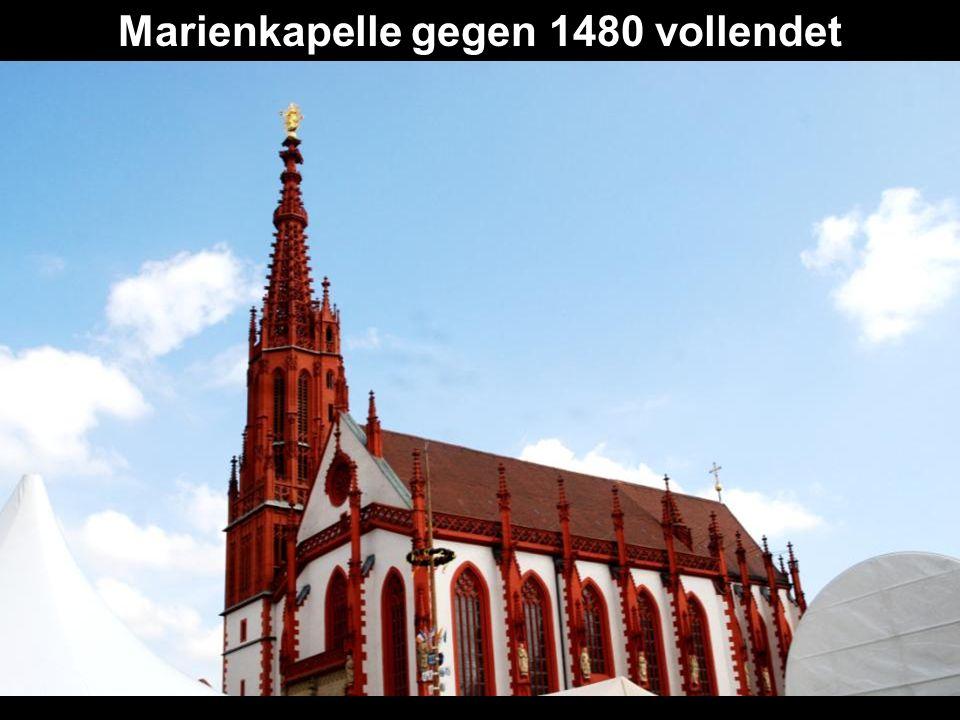 Marienkapelle gegen 1480 vollendet