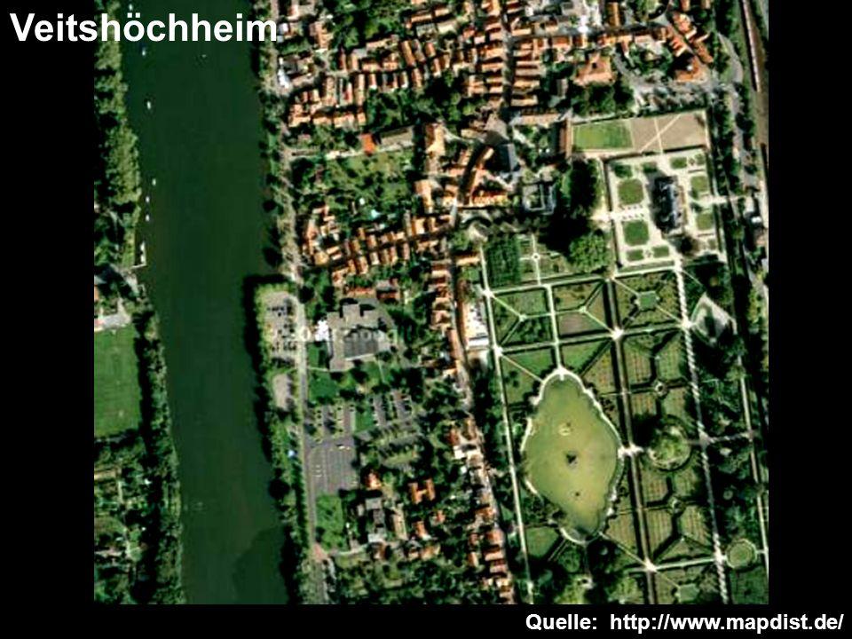 Quelle: http://www.mapdist.de/ Veitshöchheim