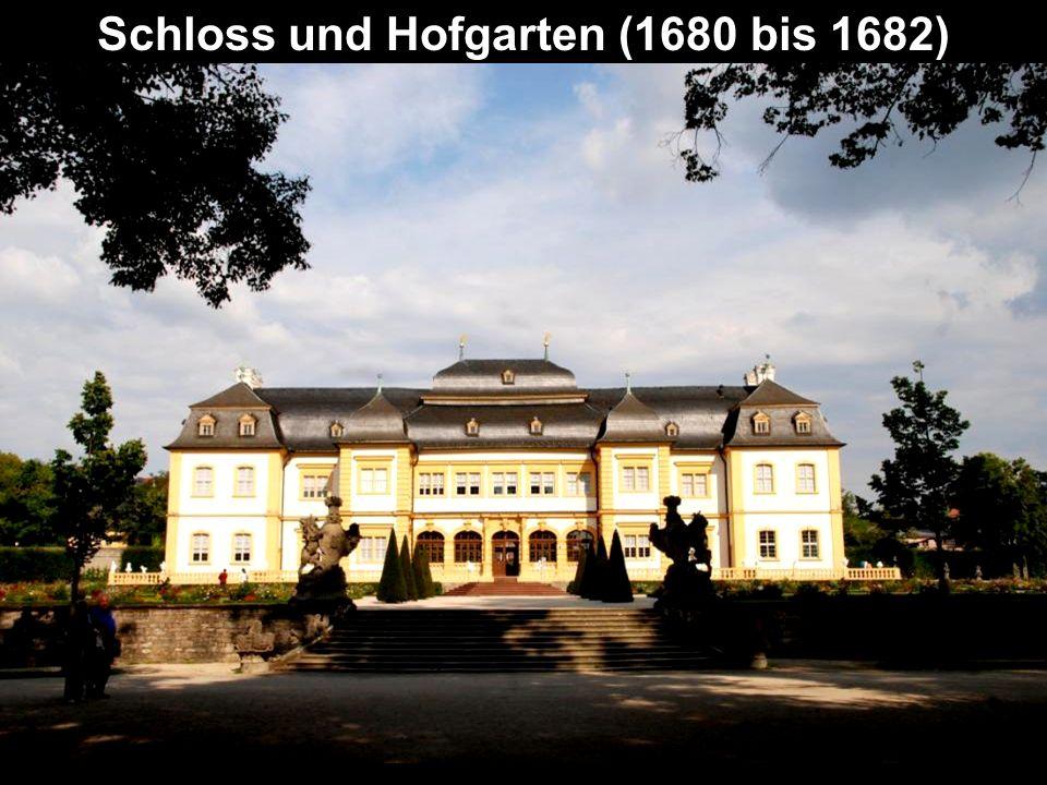 Schloss und Hofgarten (1680 bis 1682)