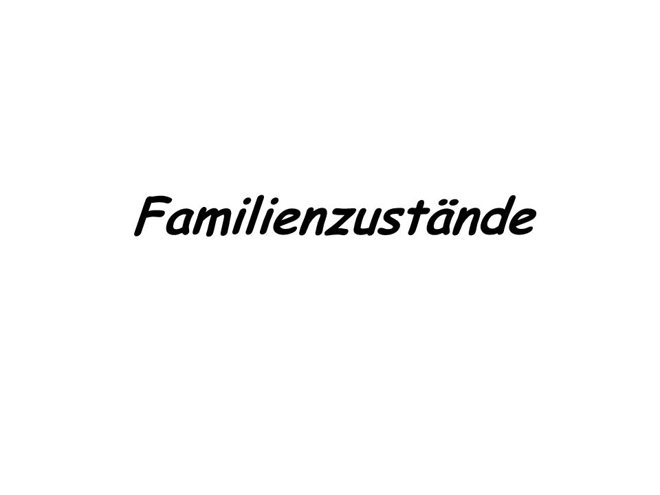 Familienzustände