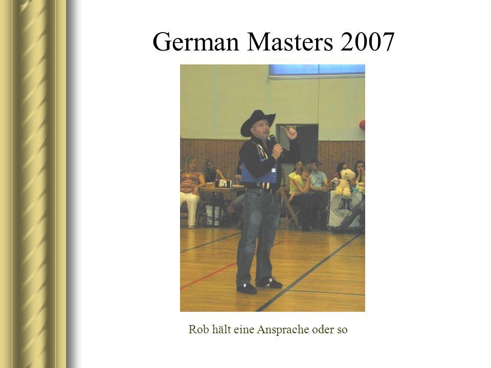 German Masters 2007 Rob hält eine Ansprache oder so