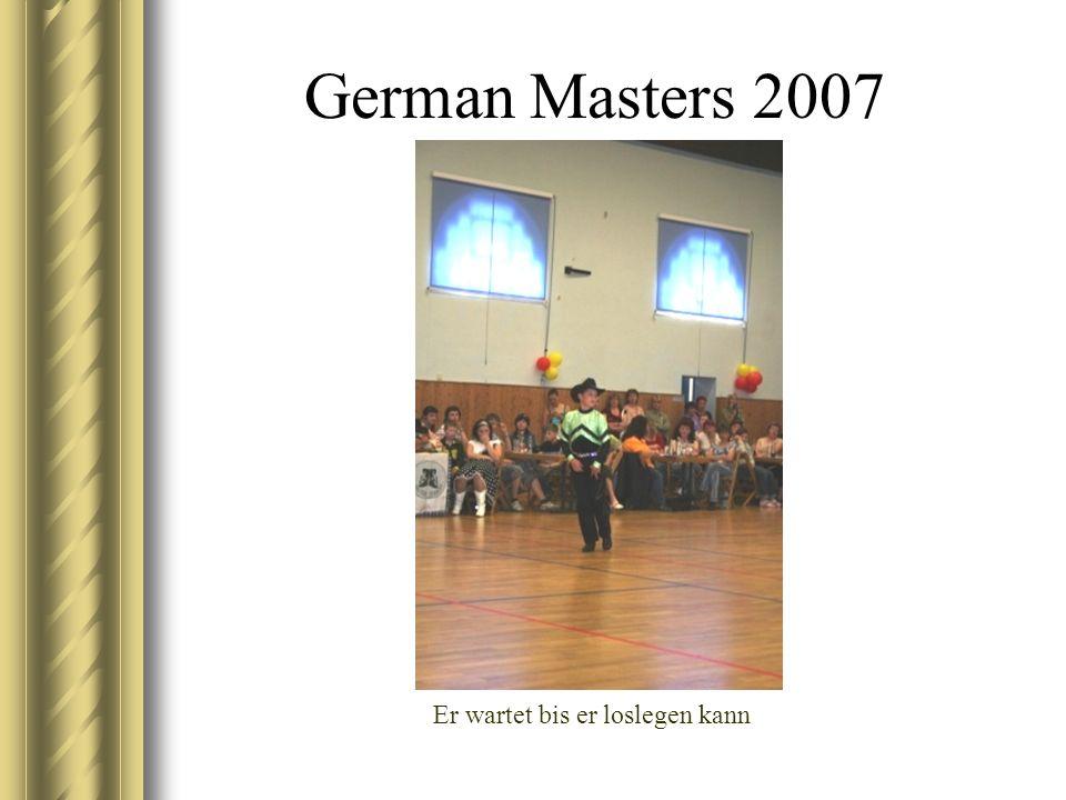 German Masters 2007 Er wartet bis er loslegen kann