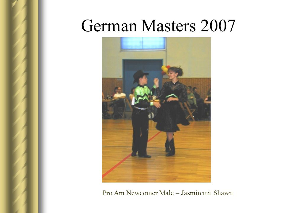 German Masters 2007 Pro Am Newcomer Male – Jasmin mit Shawn