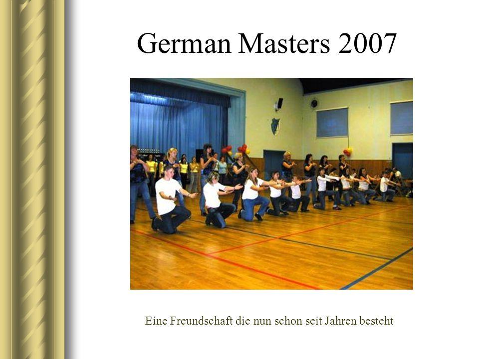 German Masters 2007 Eine Freundschaft die nun schon seit Jahren besteht