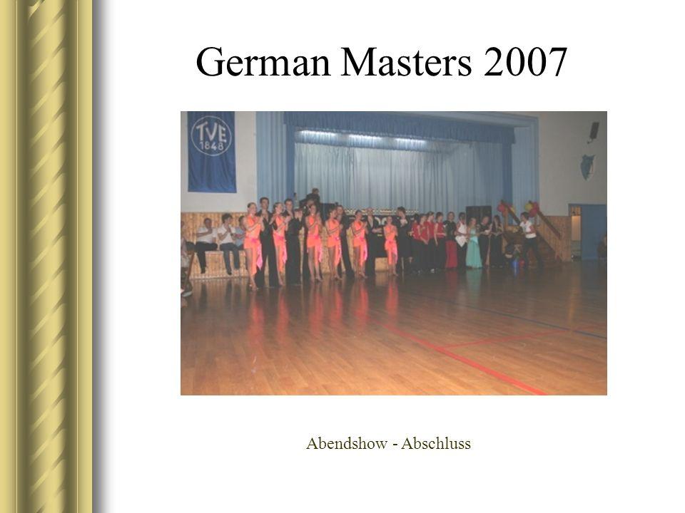 German Masters 2007 Abendshow - Abschluss