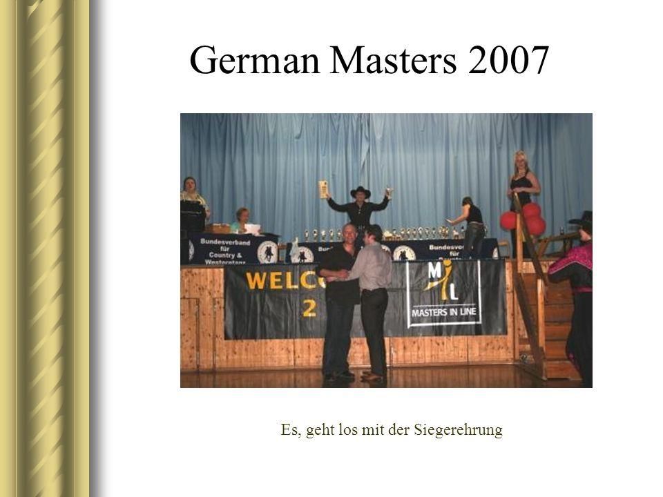 German Masters 2007 Es, geht los mit der Siegerehrung