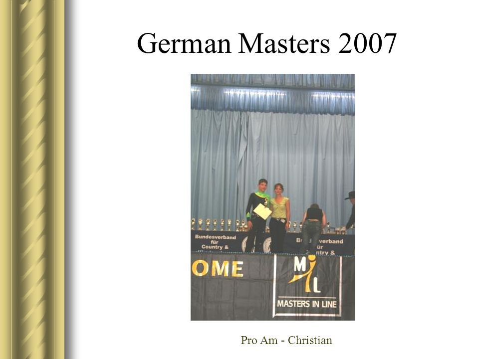 German Masters 2007 Pro Am - Christian