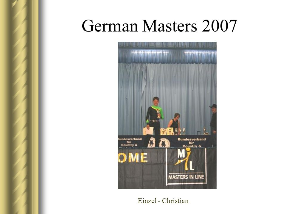 German Masters 2007 Einzel - Christian