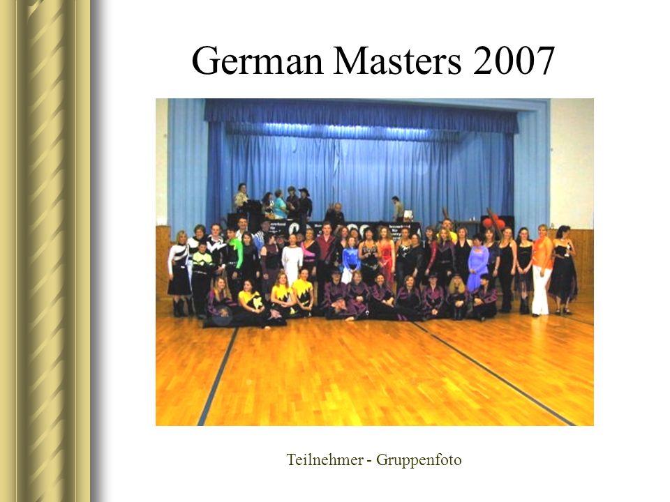German Masters 2007 Teilnehmer - Gruppenfoto