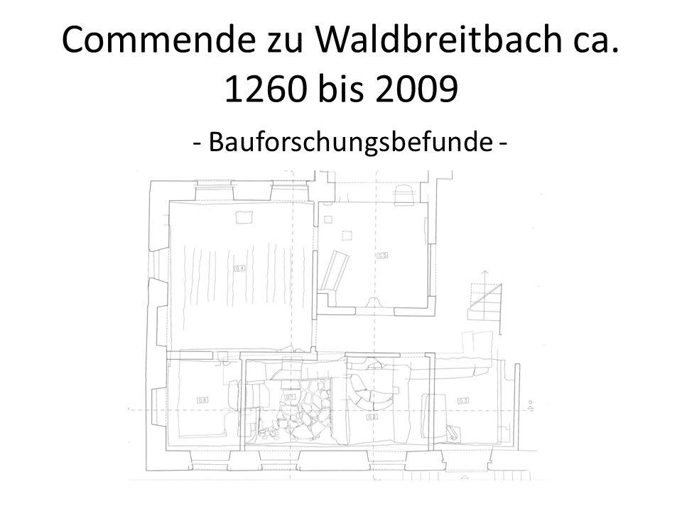 Commende zu Waldbreitbach ca. 1260 bis 2009 - Bauforschungsbefunde -