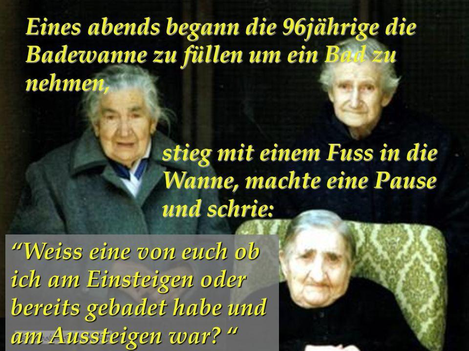 Drei Schwester 96, 94 und 92 Jahre alt lebten zusammen in einem Haus…