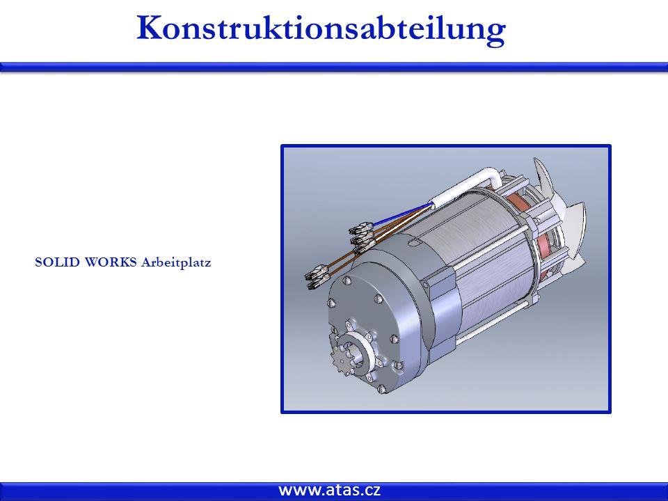 www.atas.cz Konstruktionsabteilung SOLID WORKS Arbeitplatz