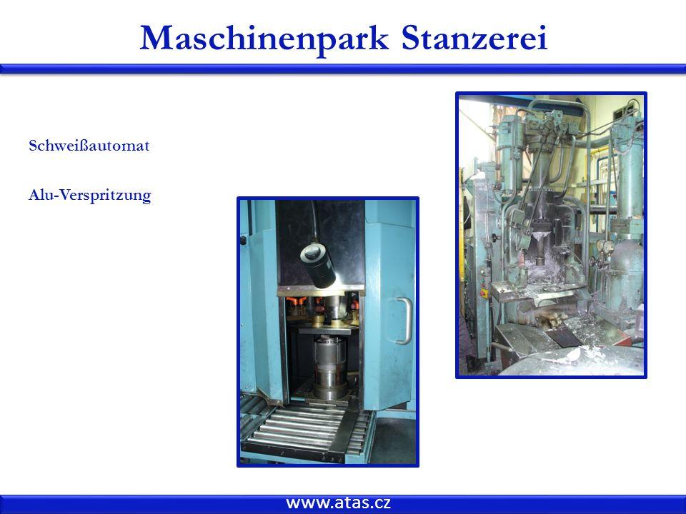 www.atas.cz Schweißautomat Alu-Verspritzung Maschinenpark Stanzerei