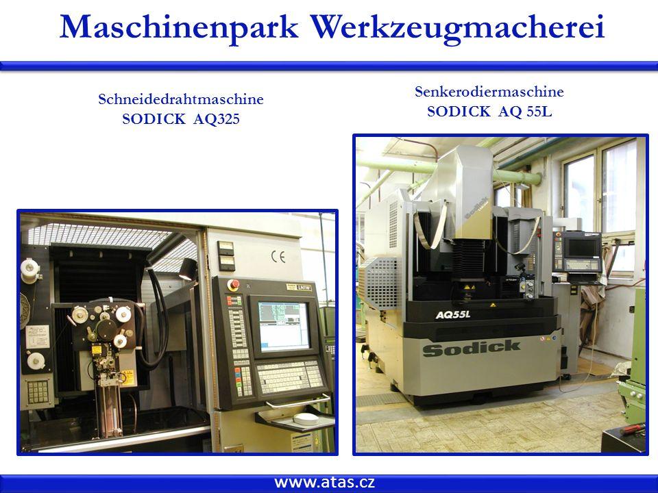 www.atas.cz Maschinenpark Werkzeugmacherei Schneidedrahtmaschine SODICK AQ325 Senkerodiermaschine SODICK AQ 55L