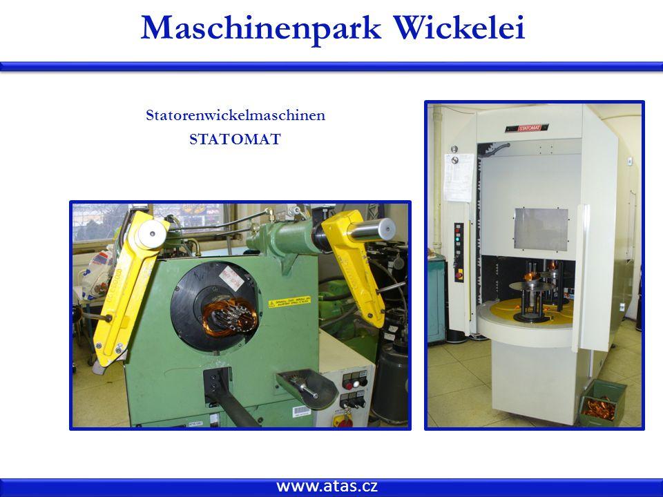 www.atas.cz Maschinenpark Wickelei Statorenwickelmaschinen STATOMAT