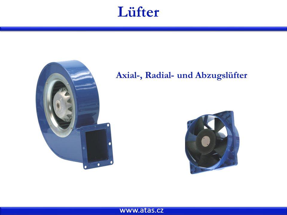 www.atas.cz Lüfter Axial-, Radial- und Abzugslüfter